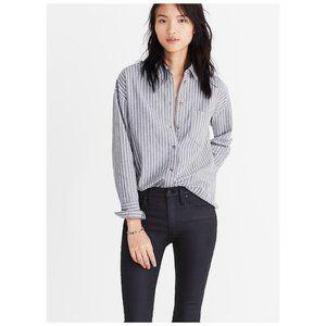 Madewell Westward Grey Button Up Long Sleeve